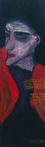 """LÍDIA GANHITO; """"Ausência I""""; óleo sobre madeira; 1m x 30 cm; 2012; R$ 850,00"""