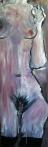 "LÍDIA GANHITO; ""Ausência II""; óleo sobre madeira; 1m x 30 cm; 2012; R$ 1,200,00"