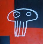 JOÃO TOLOVI, da série caveiras, spray e canetão sobre compensado, 30 x 30 cm, 2012 R$ 125,00