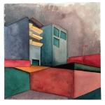 """JULIA MOTA; Série """"Azul e branco""""; aquarela sobre papel Sennelier; 30 x 30 cm; 2010; R$ 500,00"""