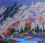 """NEUZA TAKAHASHI HOSHINO , """"As cores são Graças Divinas, acrílica s/tela, 50 x 50 cm, 2012, R$ 600,00 (cada)"""
