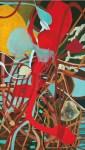 Betelhem Mokannen; O Início de Depois (2012), acrílica / tela, 152 x 87 cm