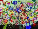 Marcos Akasaki _Sonhos De Um Jardim E Movimento_205x157cm
