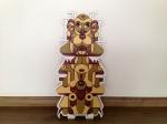 GALOT -  Totemismo, 59,4 x 42 cm, acrílica sobre madeira recortada, 2013