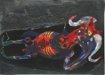 MATHEUS DVCO - TED IS DEAD II - técnica ninja –0,90x1,20 - 1999 - $1000