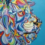 LILIAN PIRES- Leão, óleo sobre tela, 1m x 1m, R$3.000,00