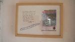 LUCAS REHNMAN  Dia 23/dez/2012, caneta sobre cartão, folder de igreja evangélica colado, cantoneiras de plástico e moldura, 24,1 x 34,1 cm (espessura da moldura = 3 cm), 2013, R$1.800,