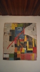 "ANDRÉ SZTUTMAN  ""JOVEM"" ST, jornal,cola e tinta acrílica, 180 x 45 x 8 cm, 2011, R$ 3.000"