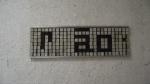 RICARDO RAMALHO Compositor 216, tinta sobre alumínio,50x163 cm, 1997, R$3.600,