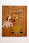 JOAO MACIEL ( JON JON), Arte  eh  Alimento, Feijao eh  Conhecimento,  tecnica  mista, 1,15 x 97cm,