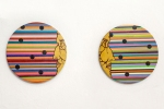 ROBSON ARAUJO, Dialogo, acrilica sobre tela, 29cm diametro (2), 2014