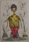 2 - FABIANA ARRUDA  Sem Título, tecnica mista, 45 x 30 cm, 2010