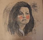 1- LUISA DORIA,  da serie Acredite em  MIm/Maysa, monotipia, 30 x 30 cm