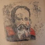 4- LUISA DORIA,  da serie Acredite em  MIm/Galileu Galilei, monotipia, 30 x 30 cm
