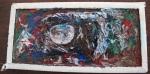 MARCO PARANÁ, Sobras de Olhares, tinta e fotografia sobre janela, 20x30cm