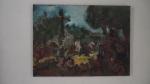 ANDRE ALBUQUERQUE,  Primeira  Missa, ´´oleo s/  tela, 50 x 60cm, 2014, R$ 1.800,00