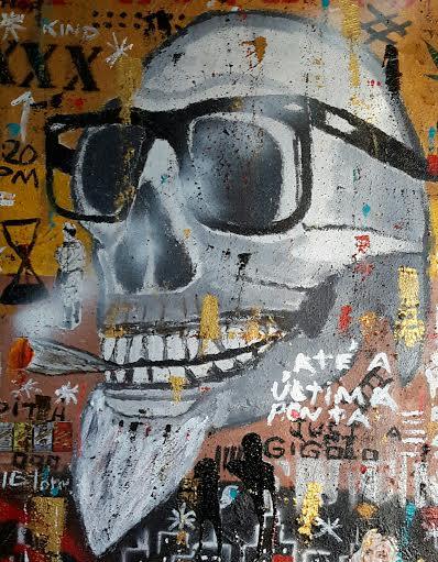 BETTO DAMASCENO, Cidadão  Caveira 1 (2015), mista s/ tela, 120cm x 80cm x 4 cm, R$5.000,00