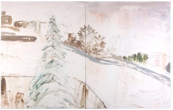 RAYA JAROUCHE, série memórias (2015/1), tintura de  cabelo e  acríllica s/ tela, 1,5m x 2m, R$4.000,00