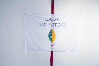 FABIANA FALEIROS Lady Incentivo, impressão sobre tecido, 60 x 90cm,R$500,