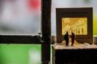 ALEXANDRE G. VILLAS BOAS Altar da Bolsa de Valores, objeto, Óleo, folha de ouro(falsa), nanquim, cera de abelha e colagem sobre madeira, 2016, R$39.650,00
