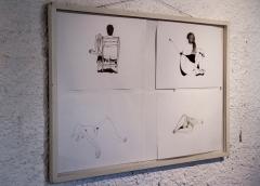 MAURICIO ELOY Sem Titulo,desenho, 28x40cm /67 x 97cm total, R$ 500,00 (cada) / R$2.000, (conjunto)