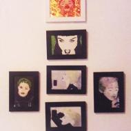 Madonna Frames Acrílica, Glitter e Esmalte s/ papel colorplus metalizado 18 x 13 cm. RS 120,00 (cada)